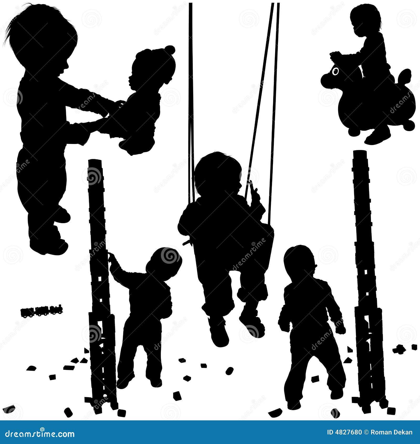 Schattenbilder 01 der kinder stockfoto bild 4827680 - Schattenbilder kinder ...