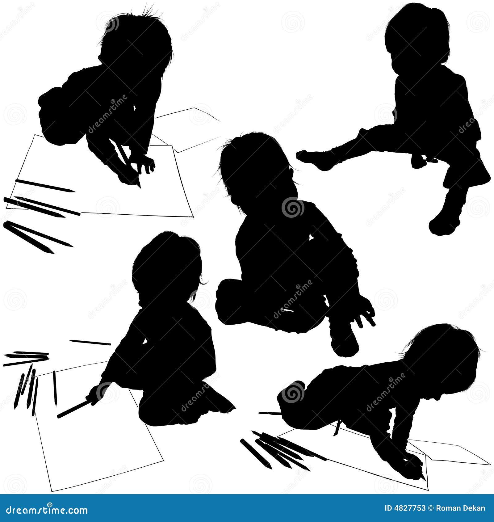 Schattenbilder 04 der kinder stockfotos bild 4827753 - Schattenbilder kinder ...