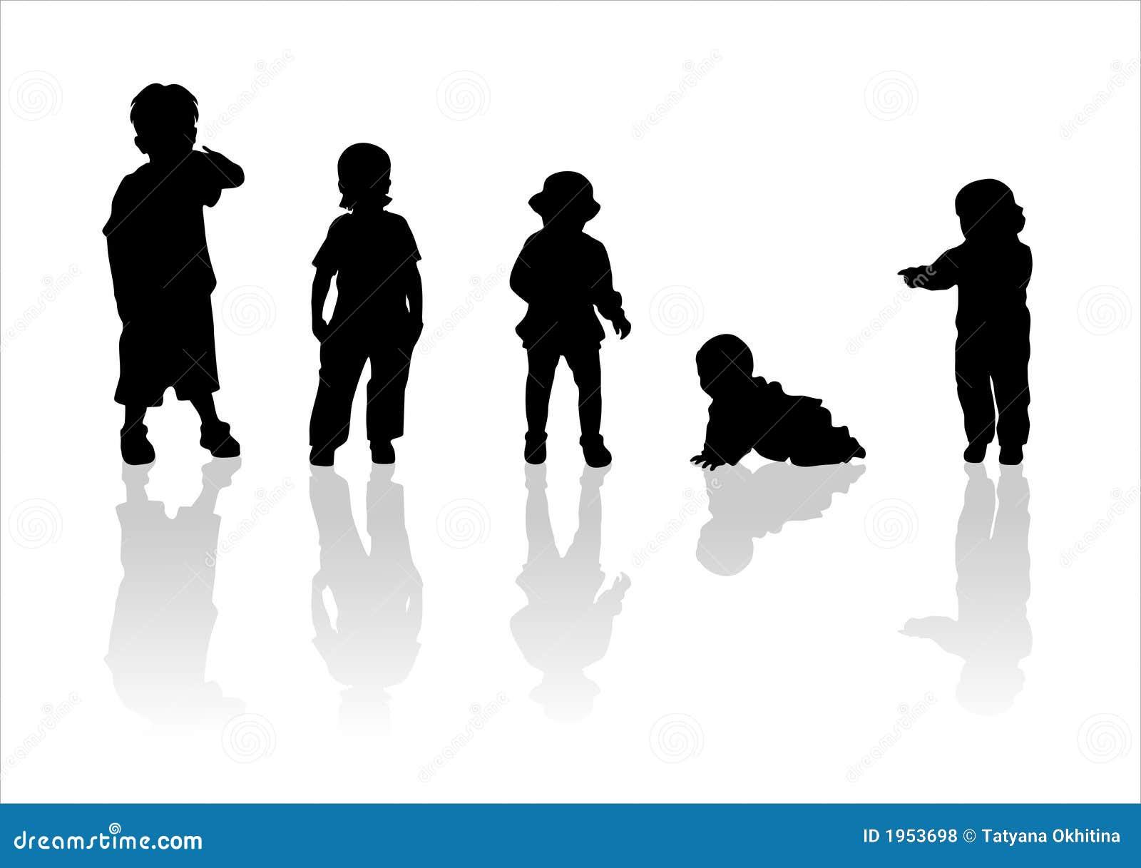 Schattenbilder der kinder 2 lizenzfreie stockfotos - Schattenbilder kinder ...