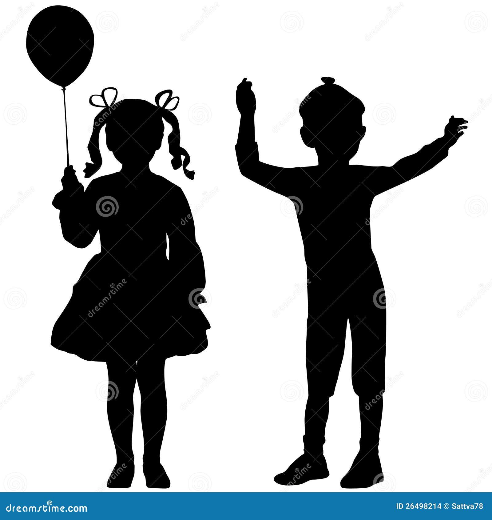 Schattenbilder der kinder stockbilder bild 26498214 - Schattenbilder kinder ...