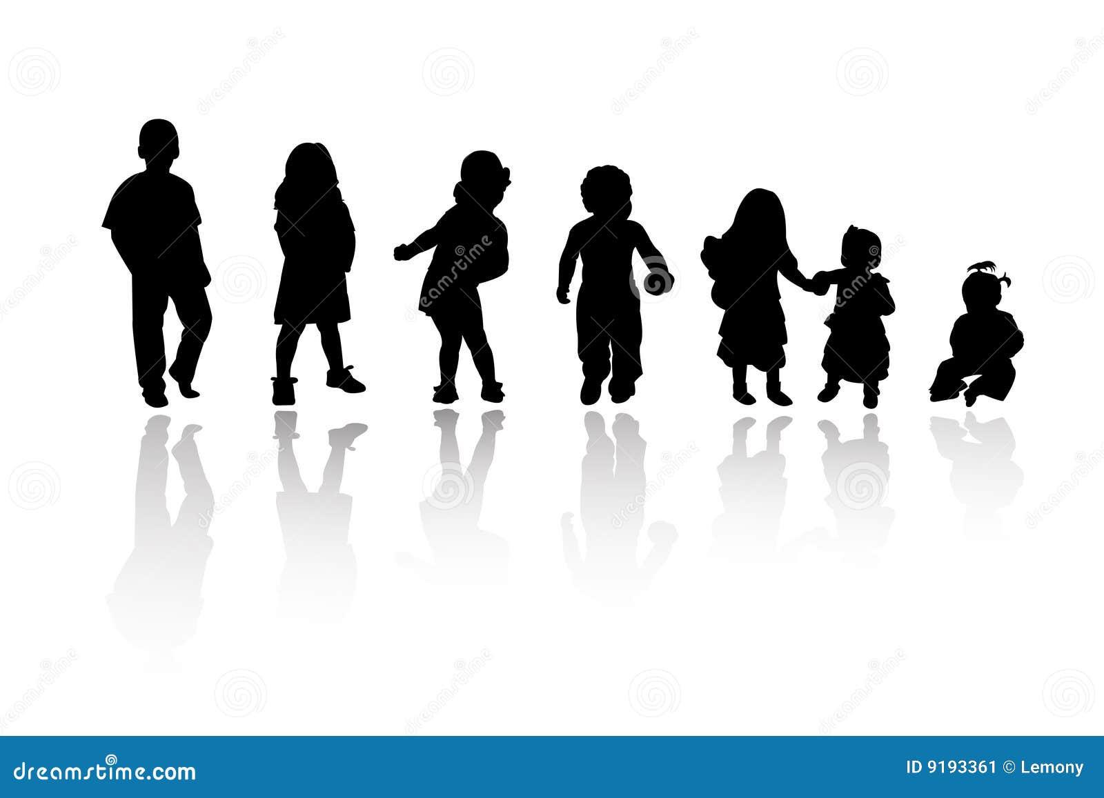 Schattenbilder kinder vektor abbildung illustration von - Schattenbilder kinder ...