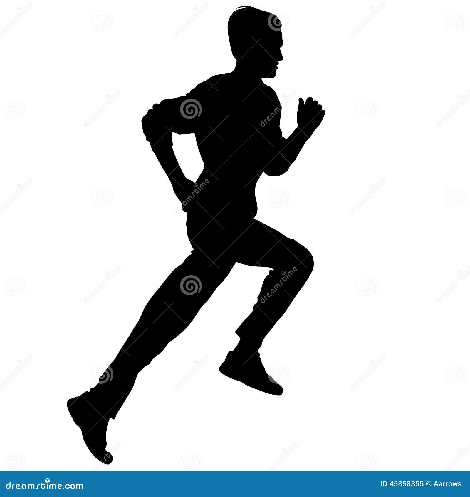 Läufer  Schattenbilder Läufer Auf Sprint, Männer Vektor Abbildung - Bild ...