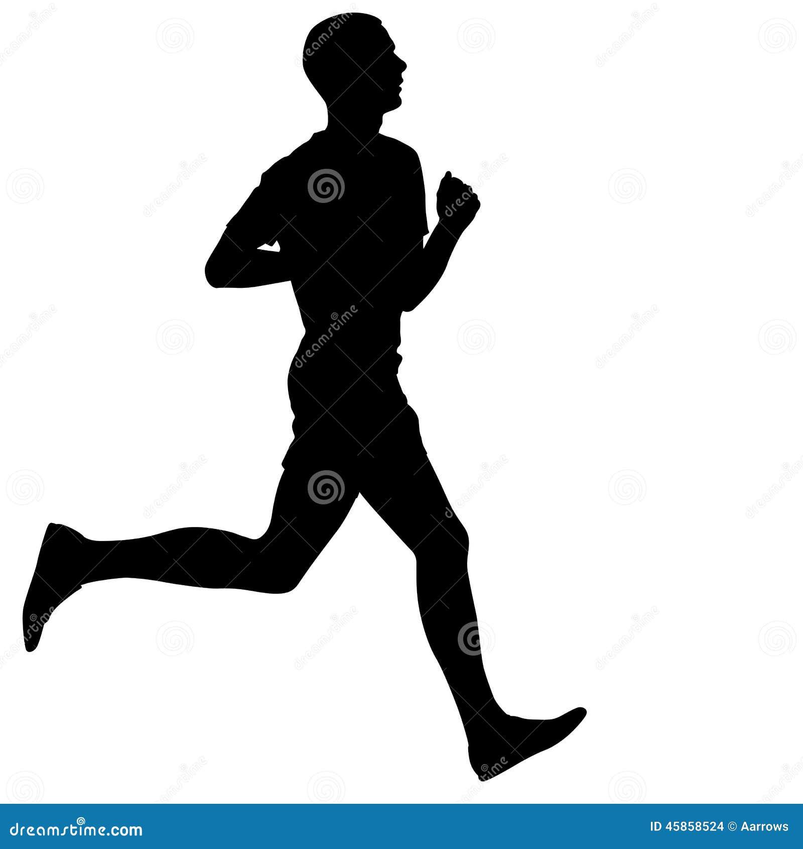 Läufer  Männlicher Läufer Stilisiert Vektor Abbildung - Bild: 49023214