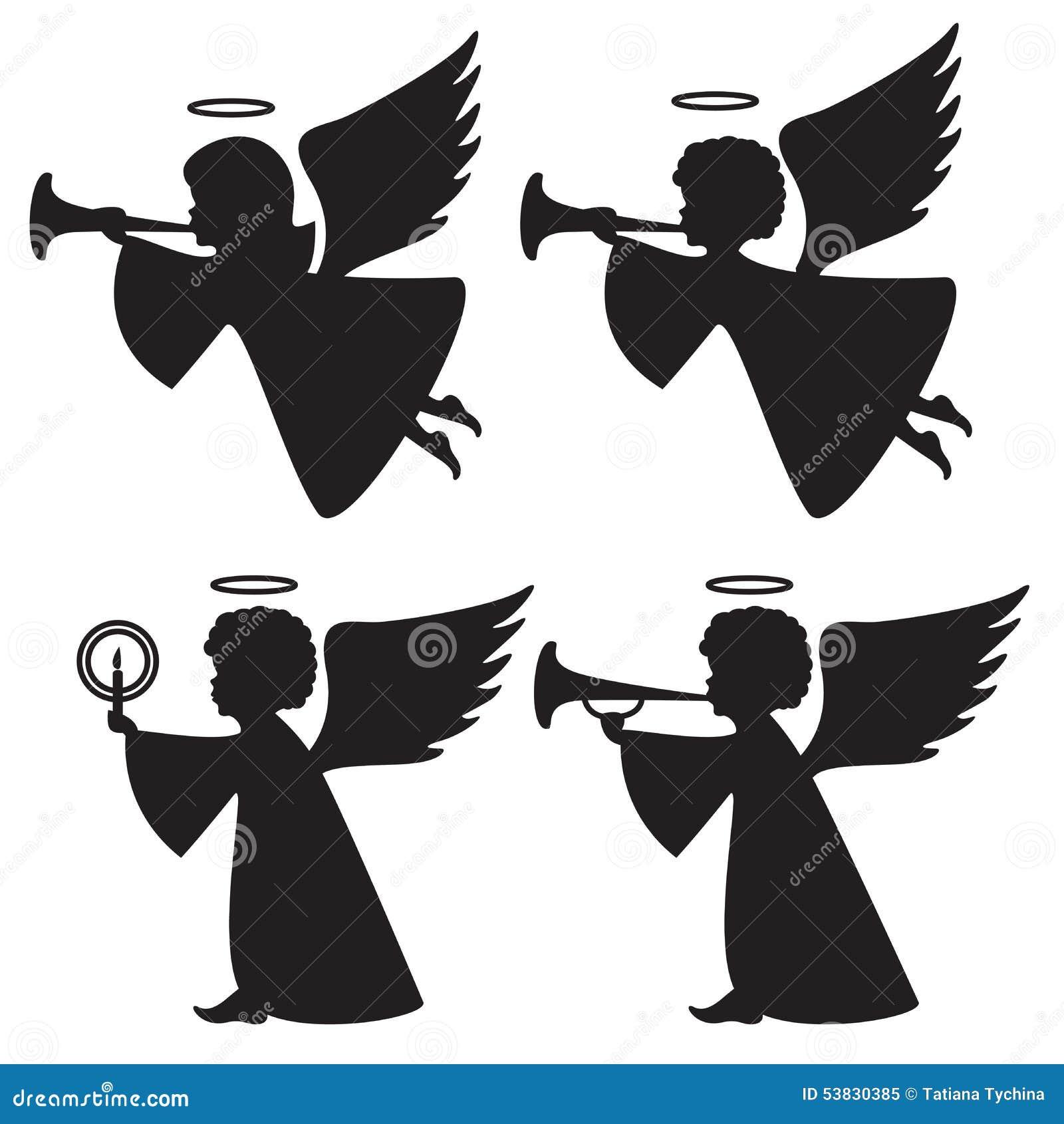 Schattenbilder von Engeln