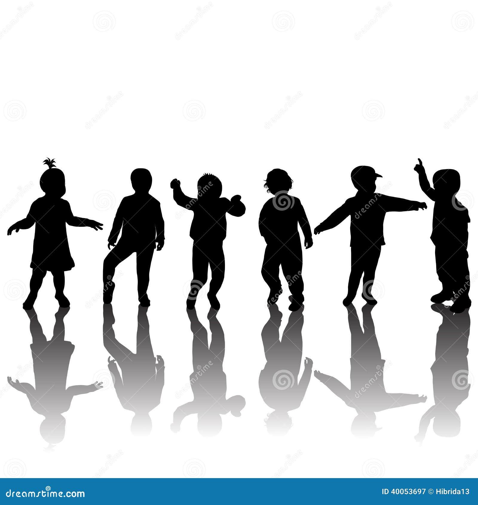 Schattenbilder von kindern und von schatten stock - Schattenbilder kinder ...