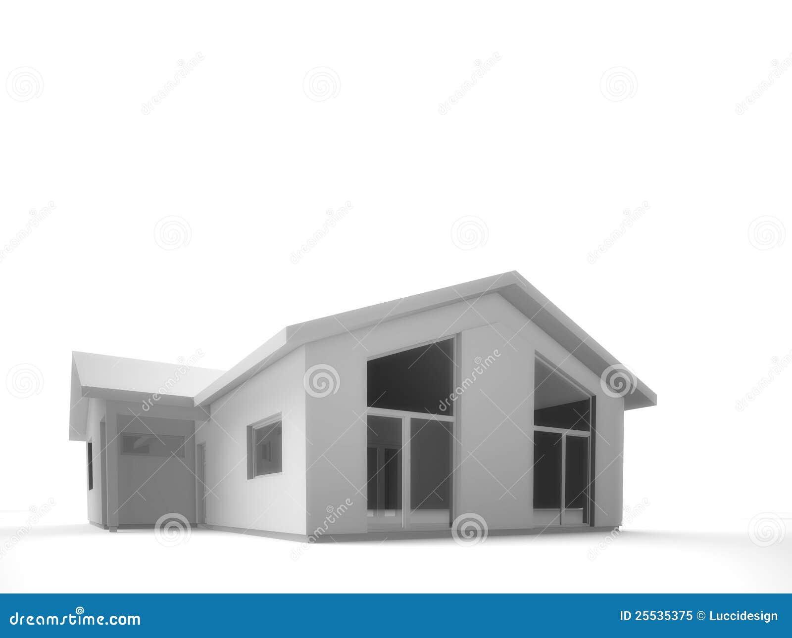 Schattiert Vom Modernen Haus â Nur Haus Stock Abbildung ...