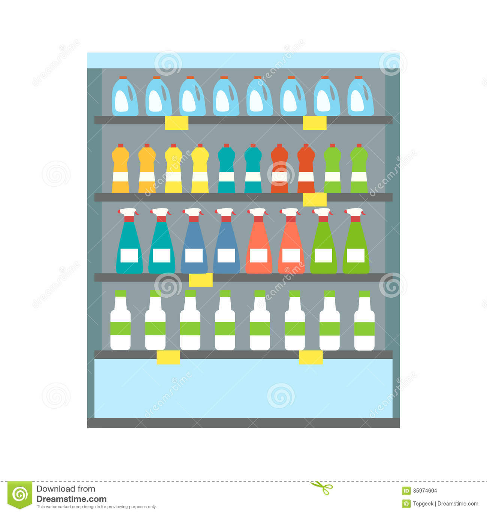Schaukasten-Kühlschrank-Getränke Vektor Abbildung - Bild: 85974604