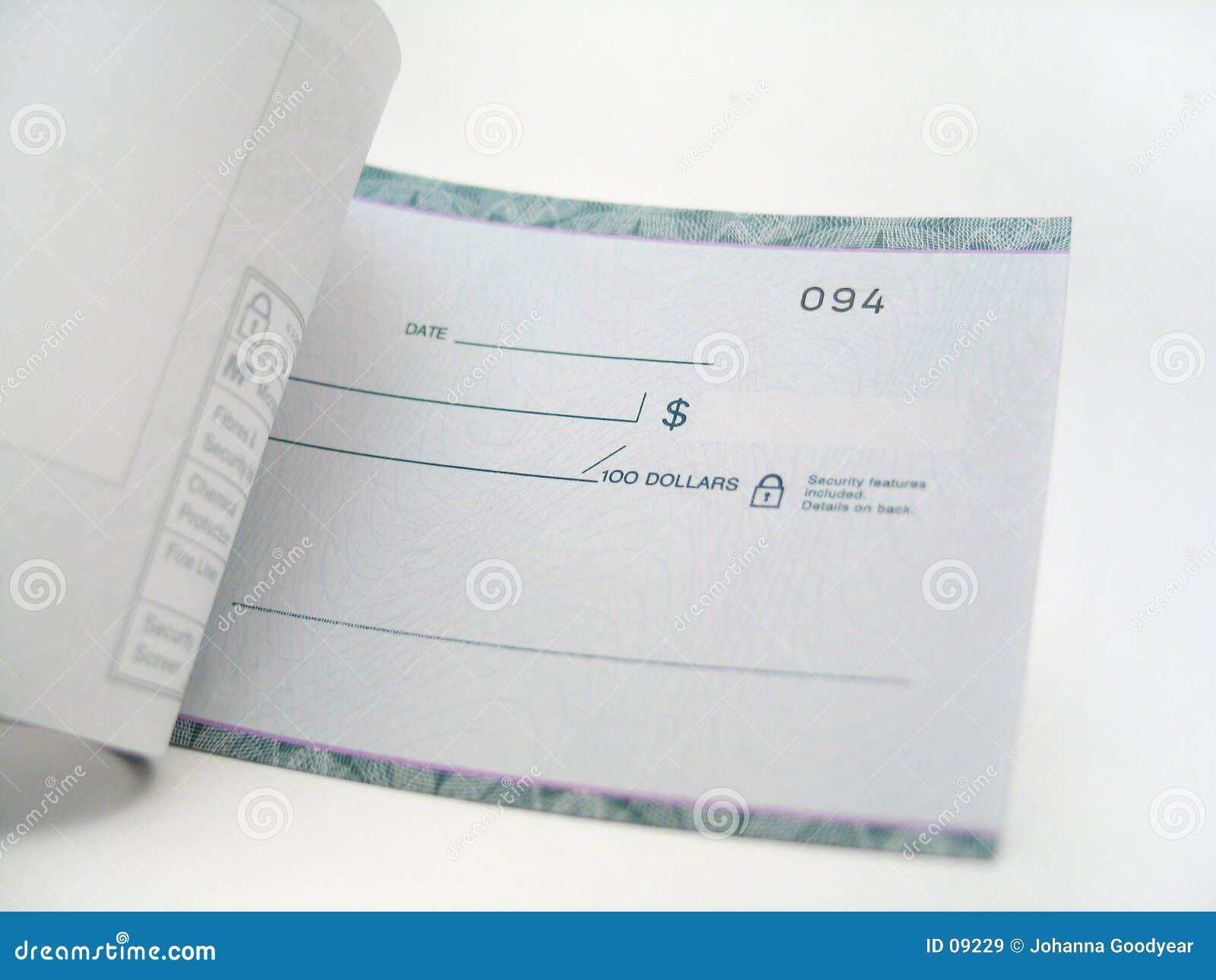 Scheckformular