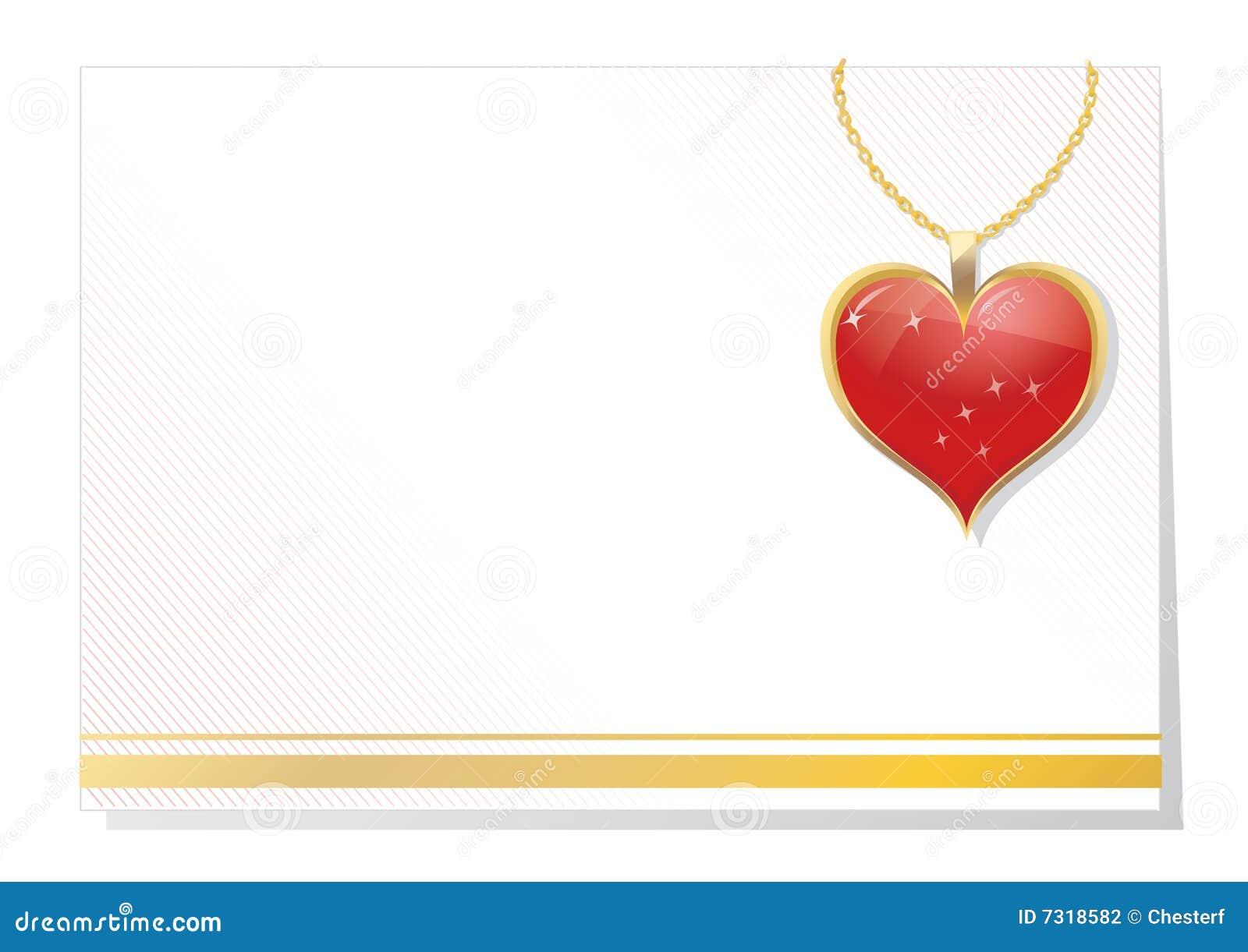 Scheda in bianco del biglietto di S. Valentino