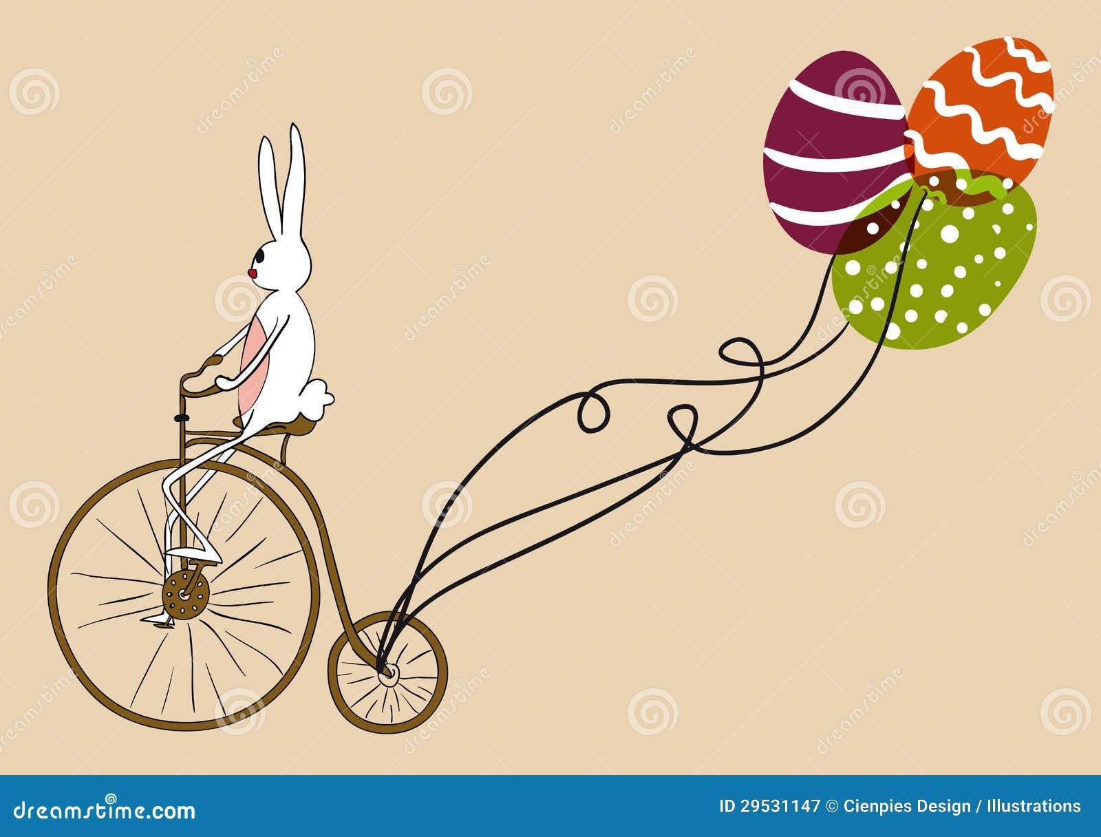 Scheda biking del coniglietto di pasqua dell 39 annata - Lettere stampabili del coniglietto di pasqua ...