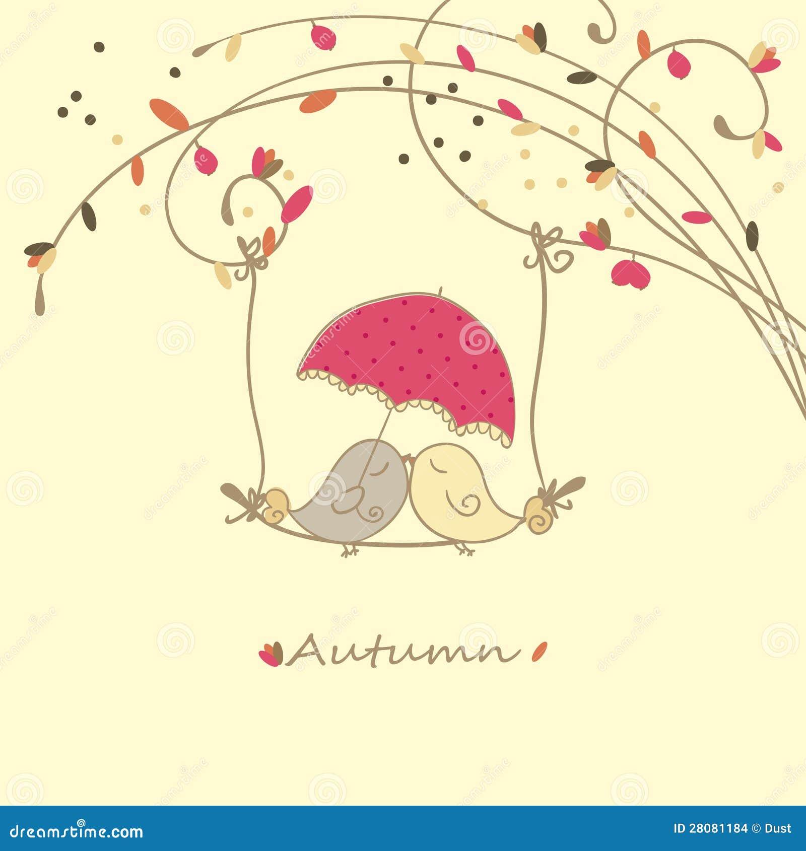 Scheda di amore di autunno