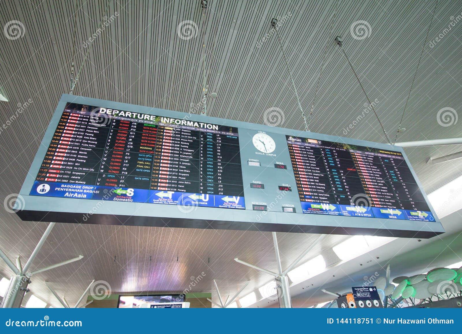 Scheda di partenza all aeroporto