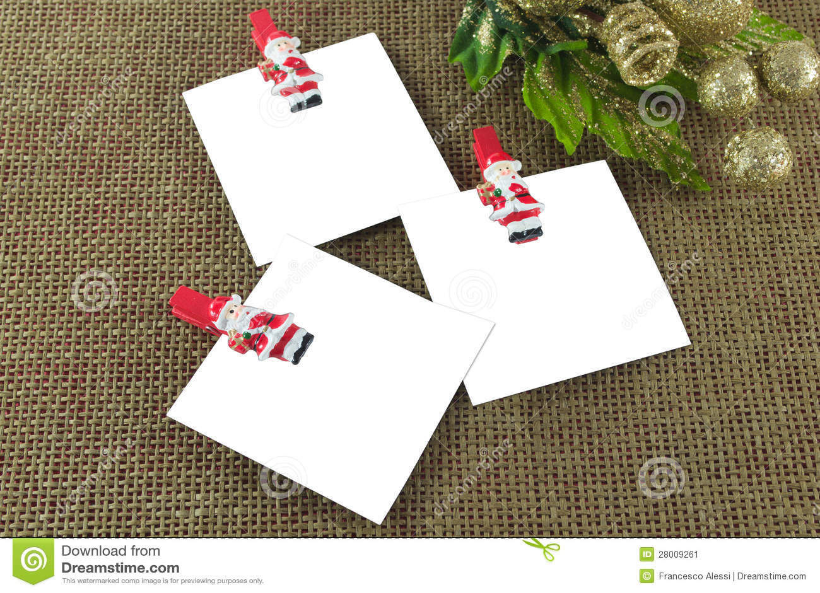 Schede di nota di Natale