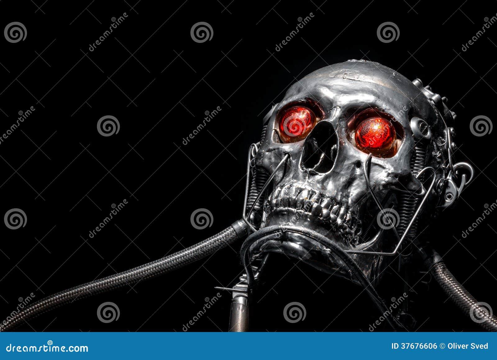Schedel van een menselijke grootterobot