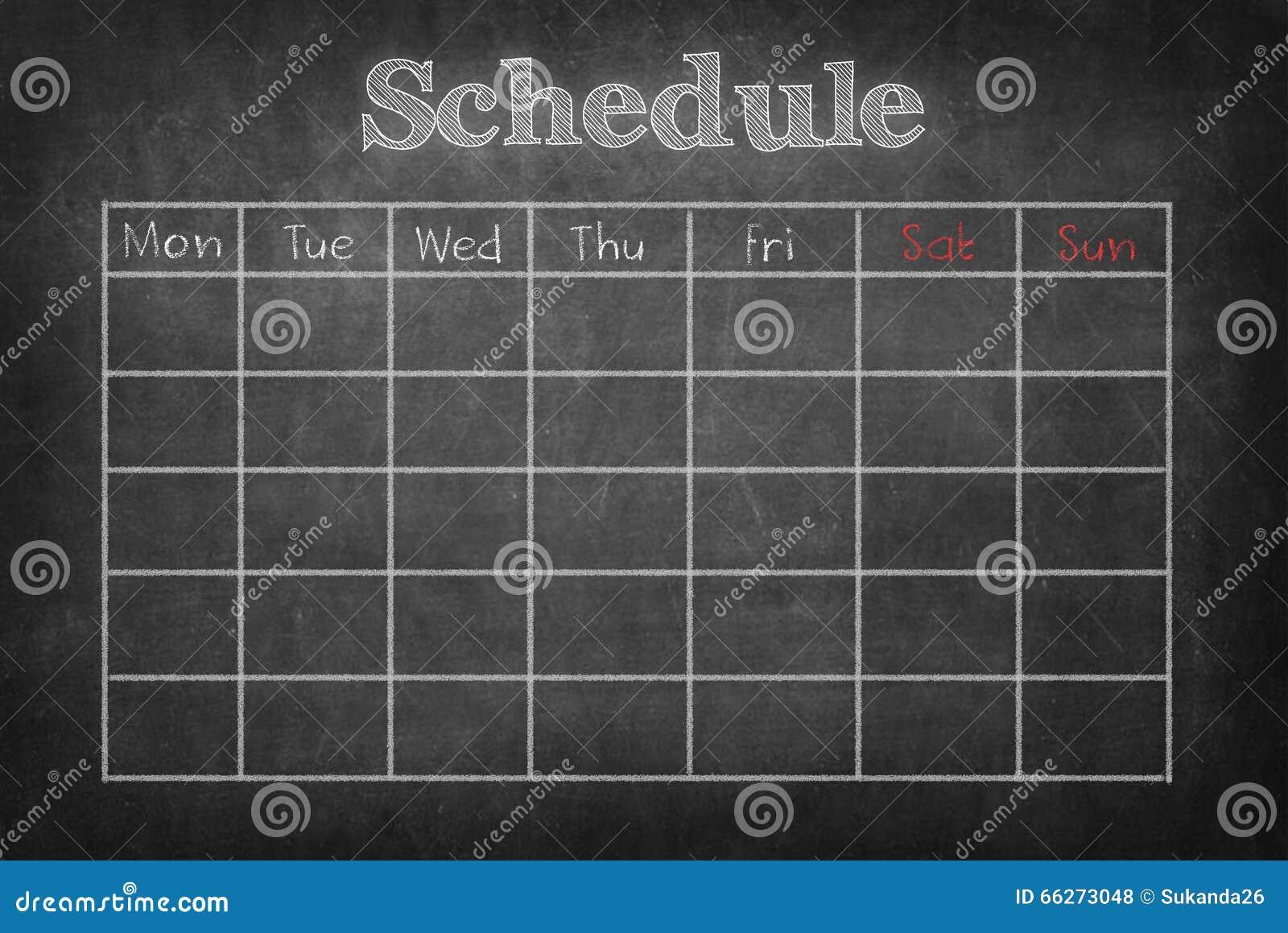 Schedule on