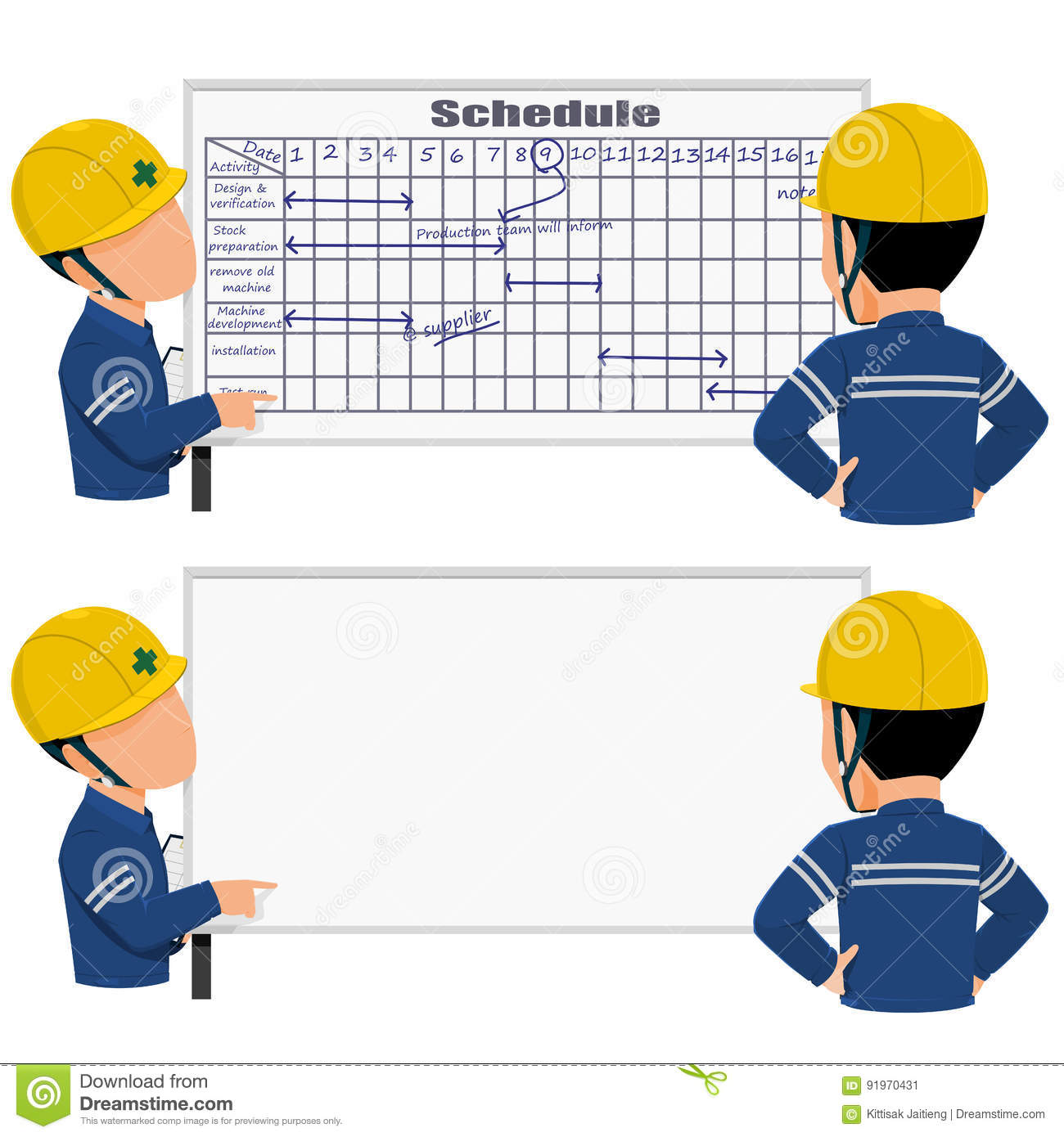 gantt cartoons  illustrations  u0026 vector stock images