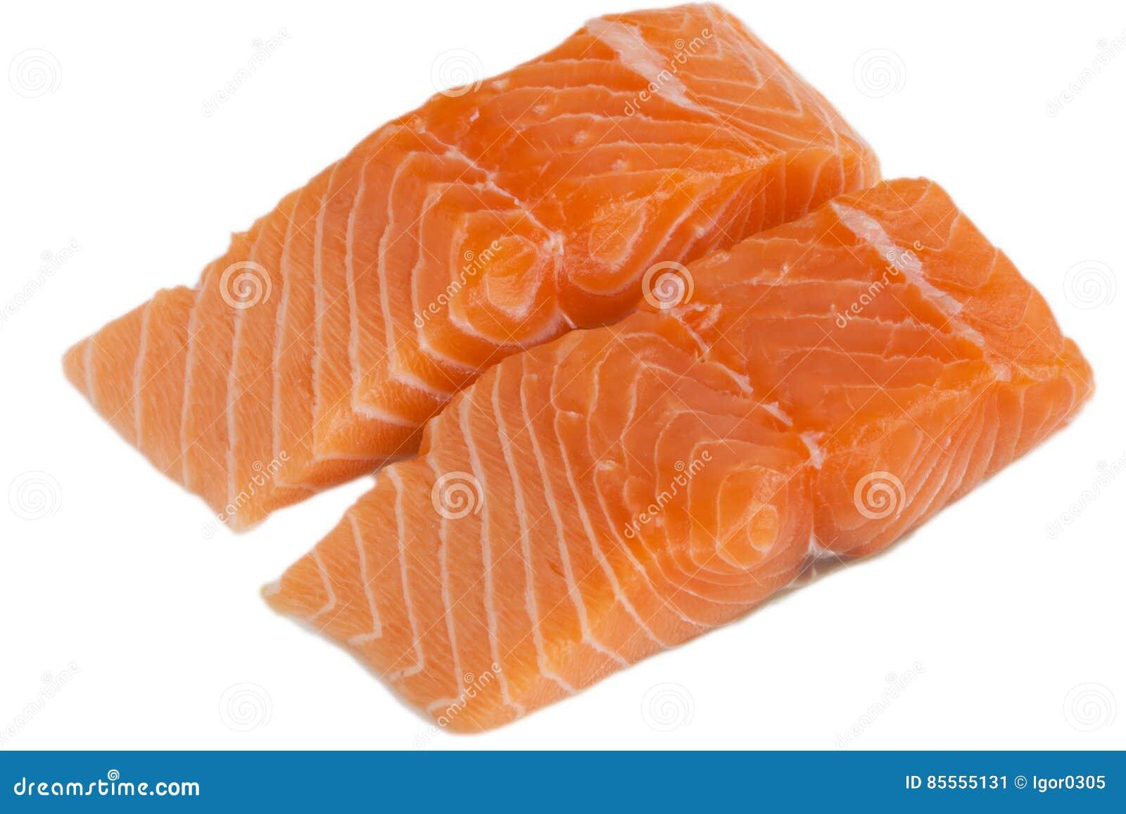 Scheibe der frischen Lachse