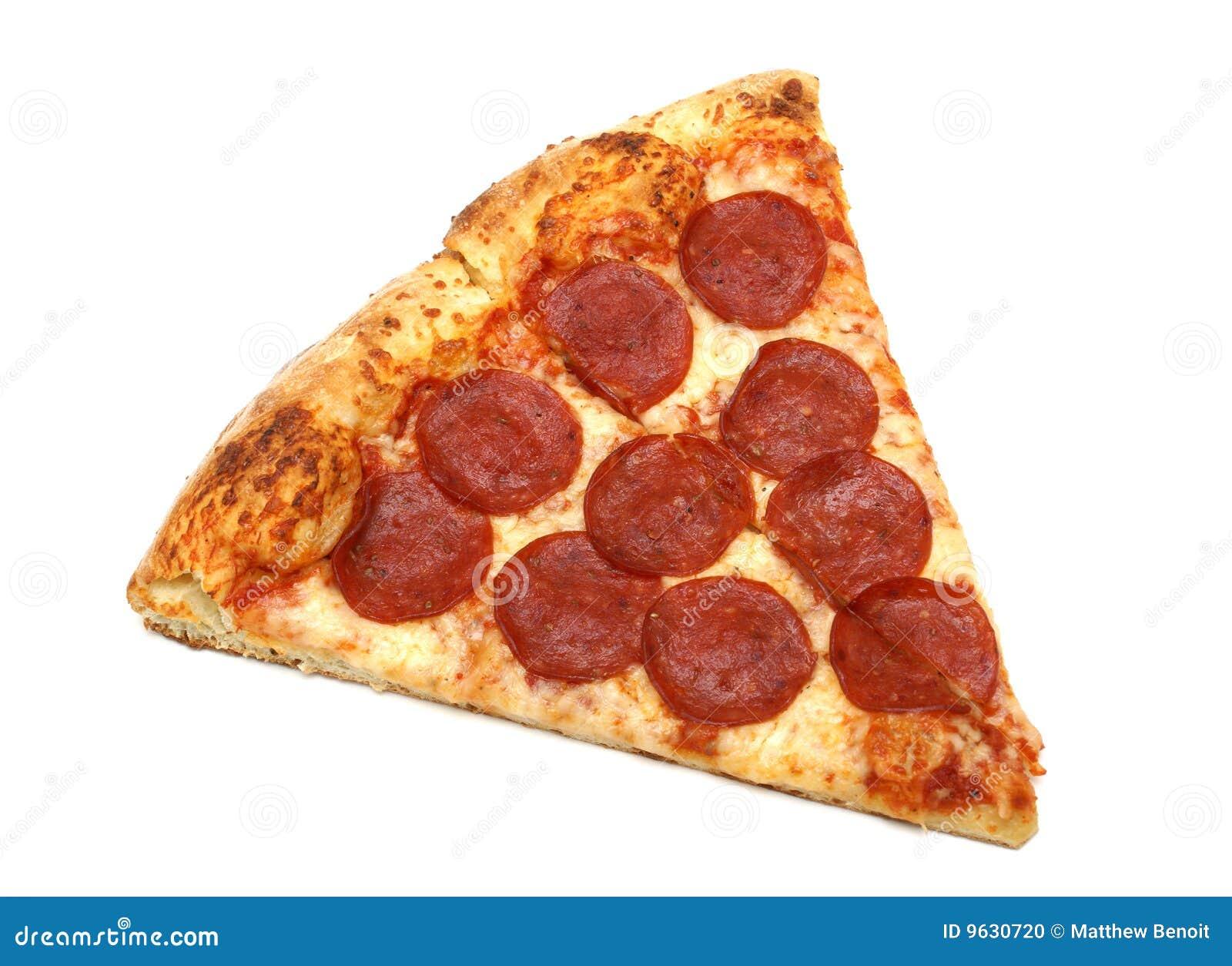 Scheibe der Pizza