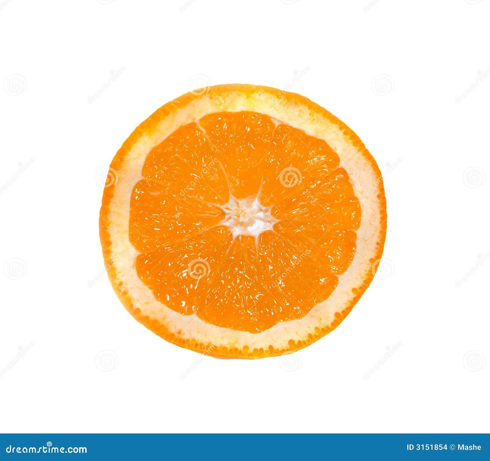 Scheibe einer Orange.