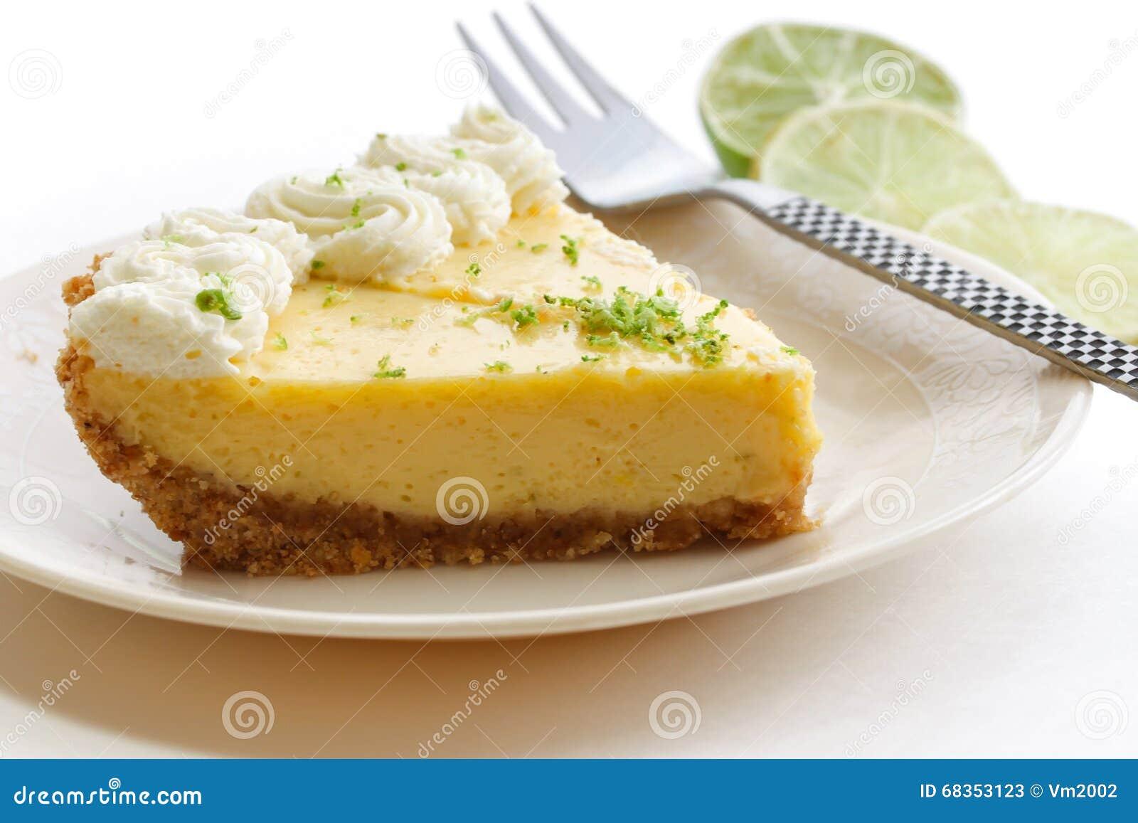 Scheibe einer Torte der echten Limette