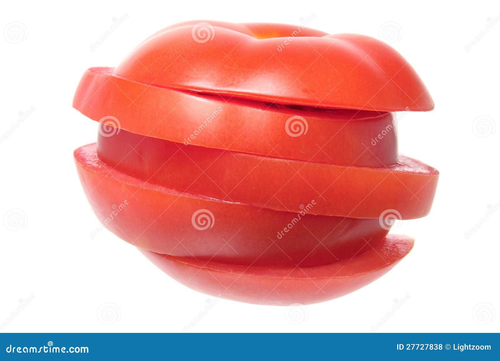 Scheiben der Tomate