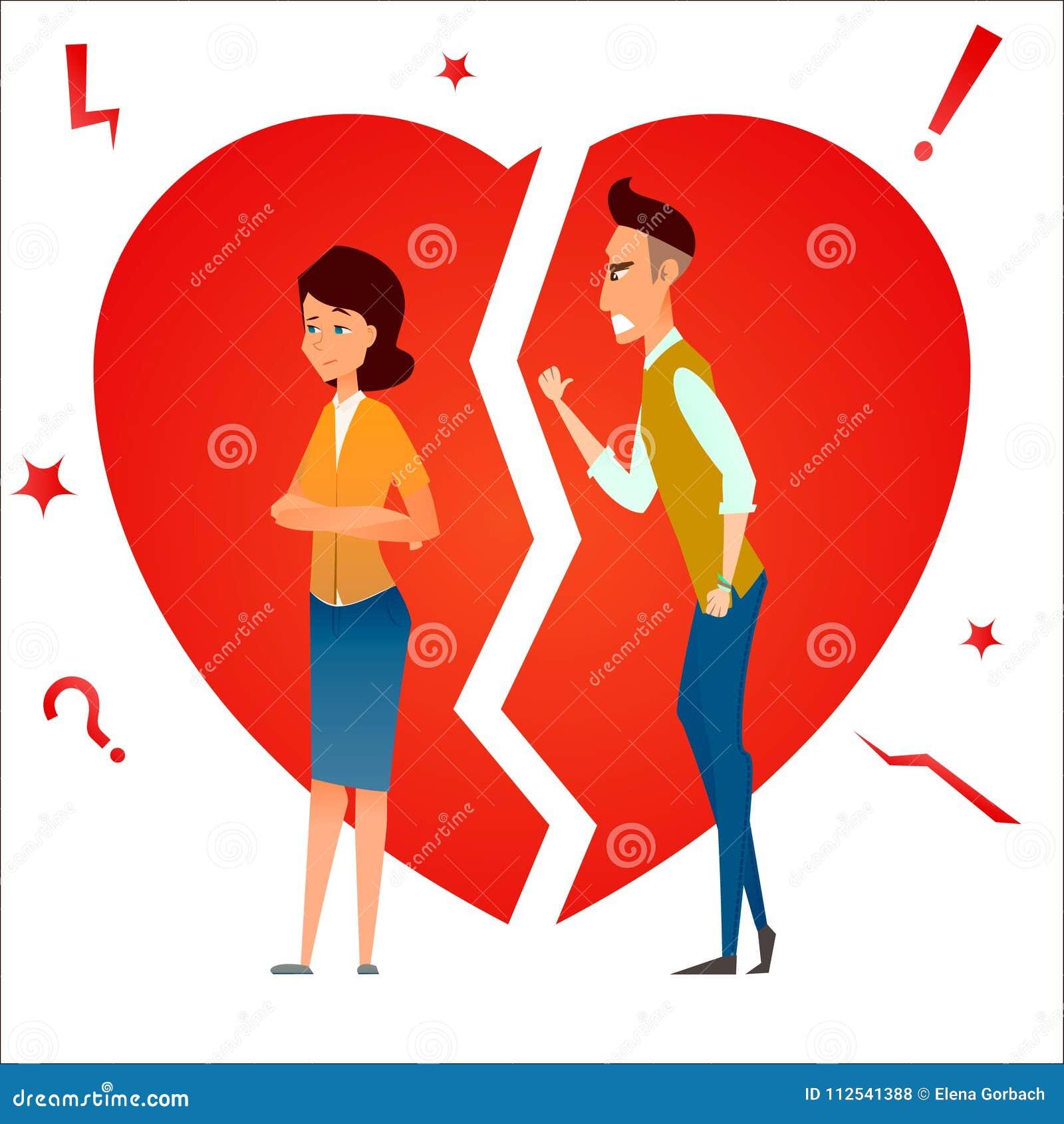 Scheiding De strijd en debatteert Twee mensen maken ruzie Het conflict van de familie Verdeel verhouding Van de echtpaarman en vr