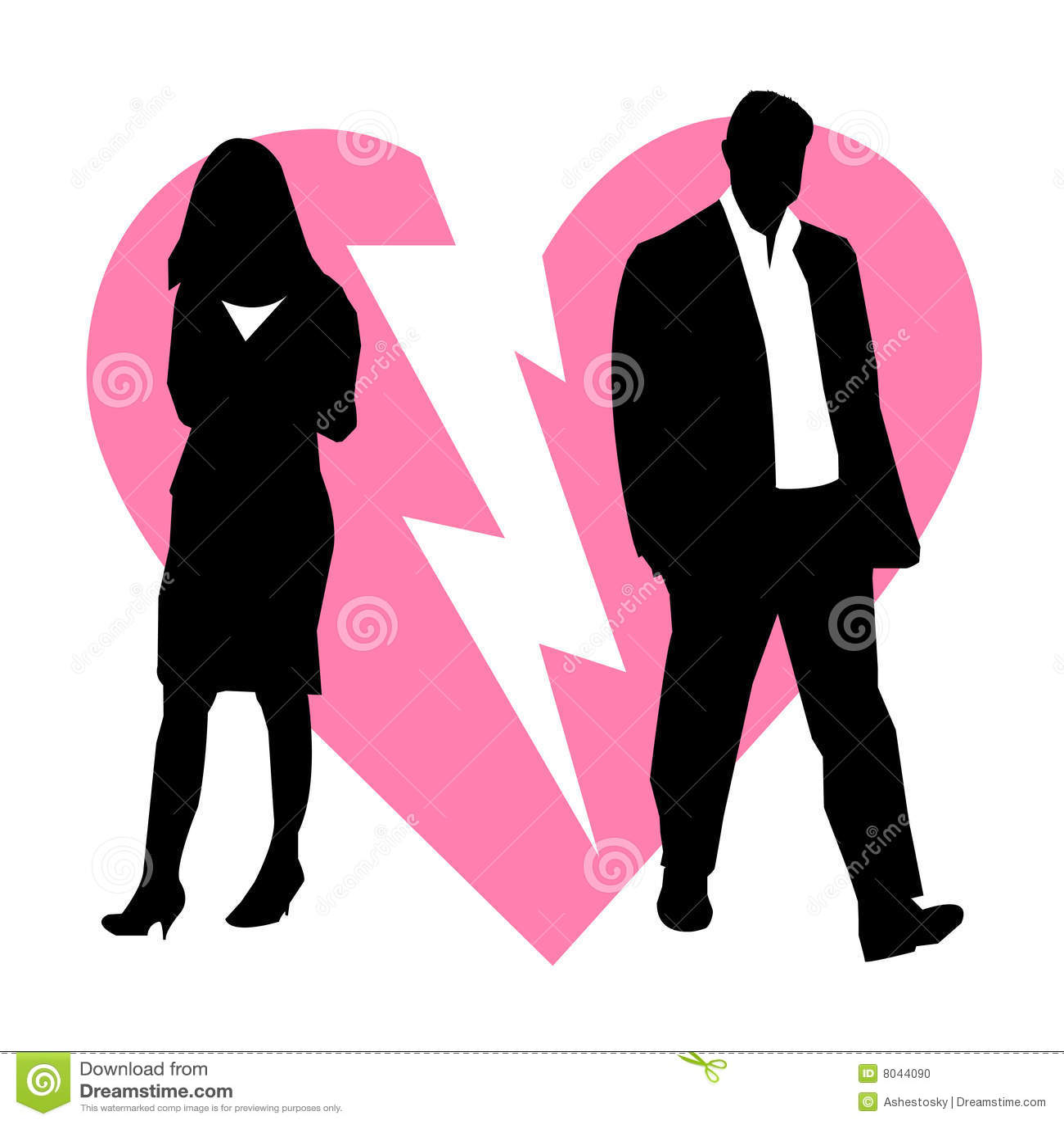 Scheiding gebroken paarachtergrond