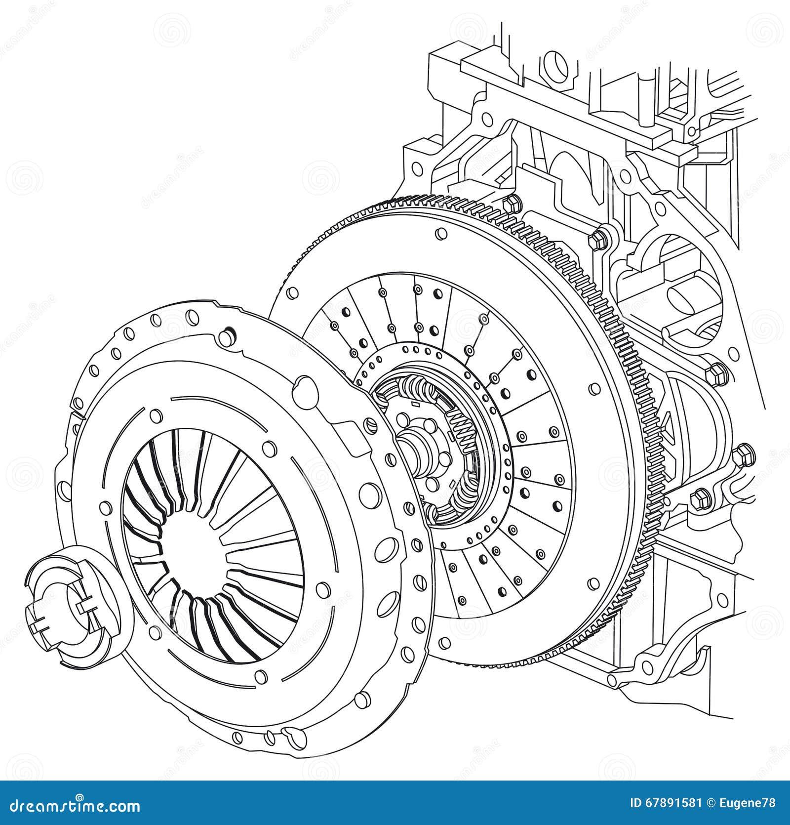 Schema della frizione dell automobile
