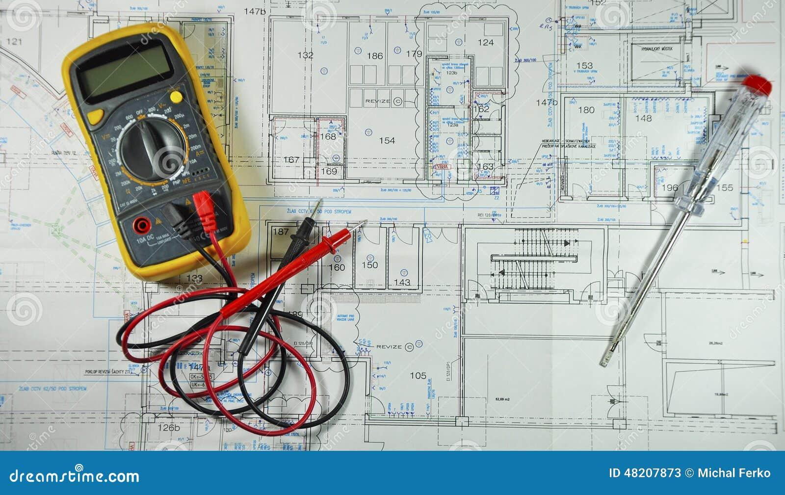 Schema Elettrico : Schema elettrico immagine stock immagine di voltmetro