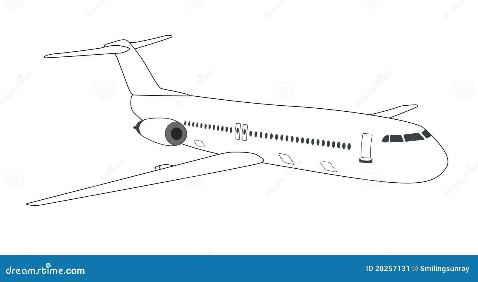 schematic airplane stock image