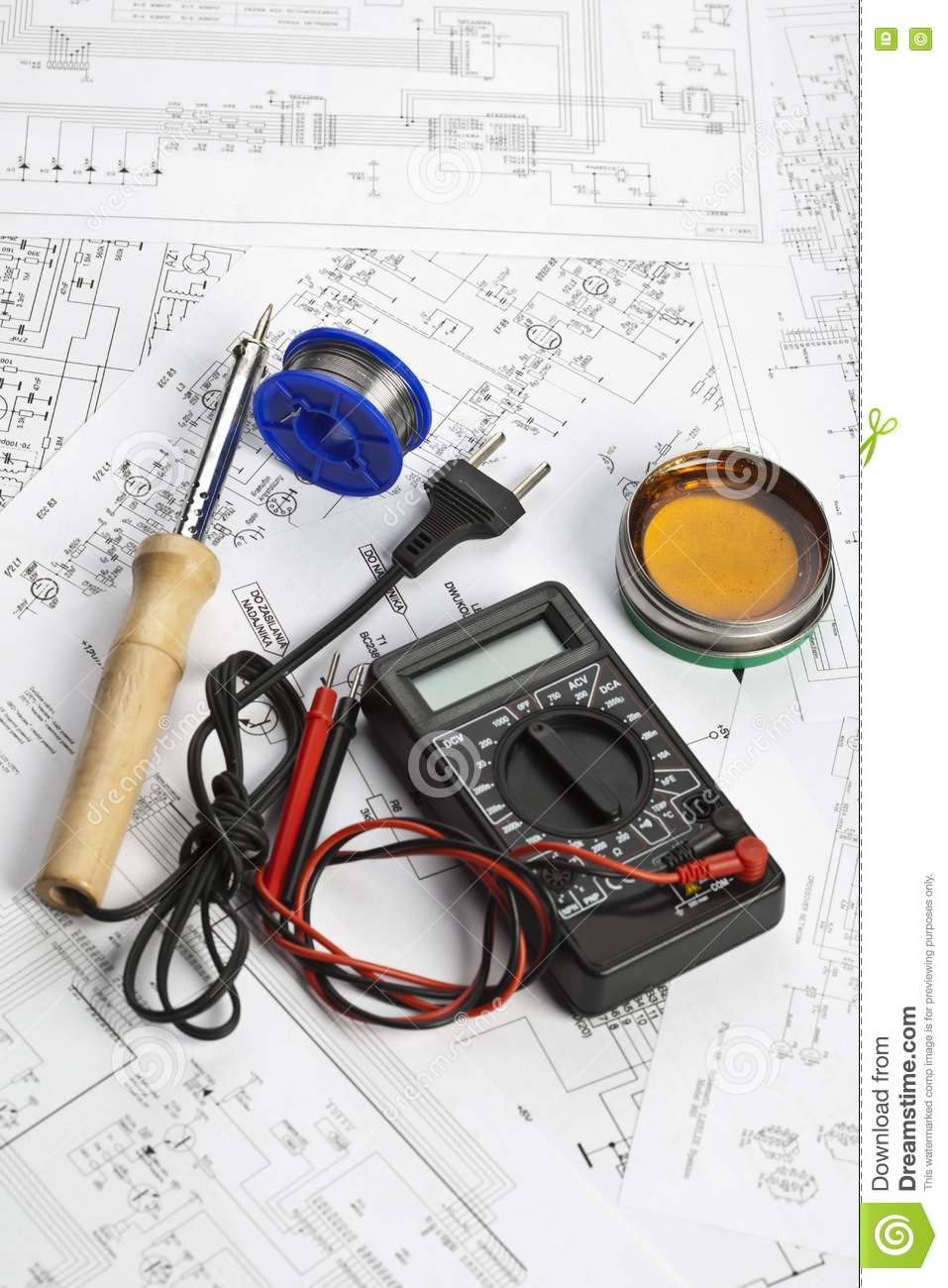 Schematic Diagram Stock Image  Image Of Component  Cable