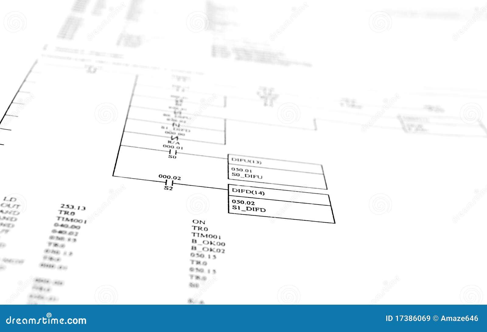 Schematisches Diagramm stockbild. Bild von daten, industrie - 17386069