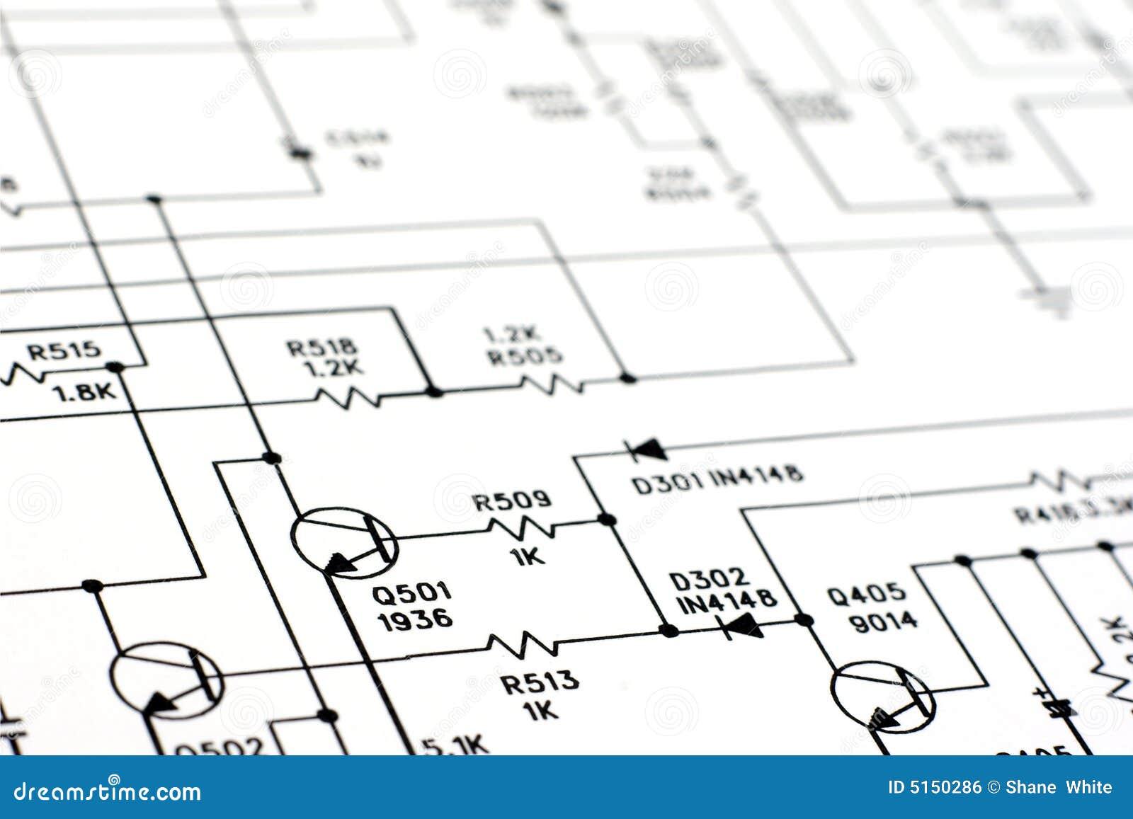 Schematisches Diagramm. stockfoto. Bild von technik, transistor ...