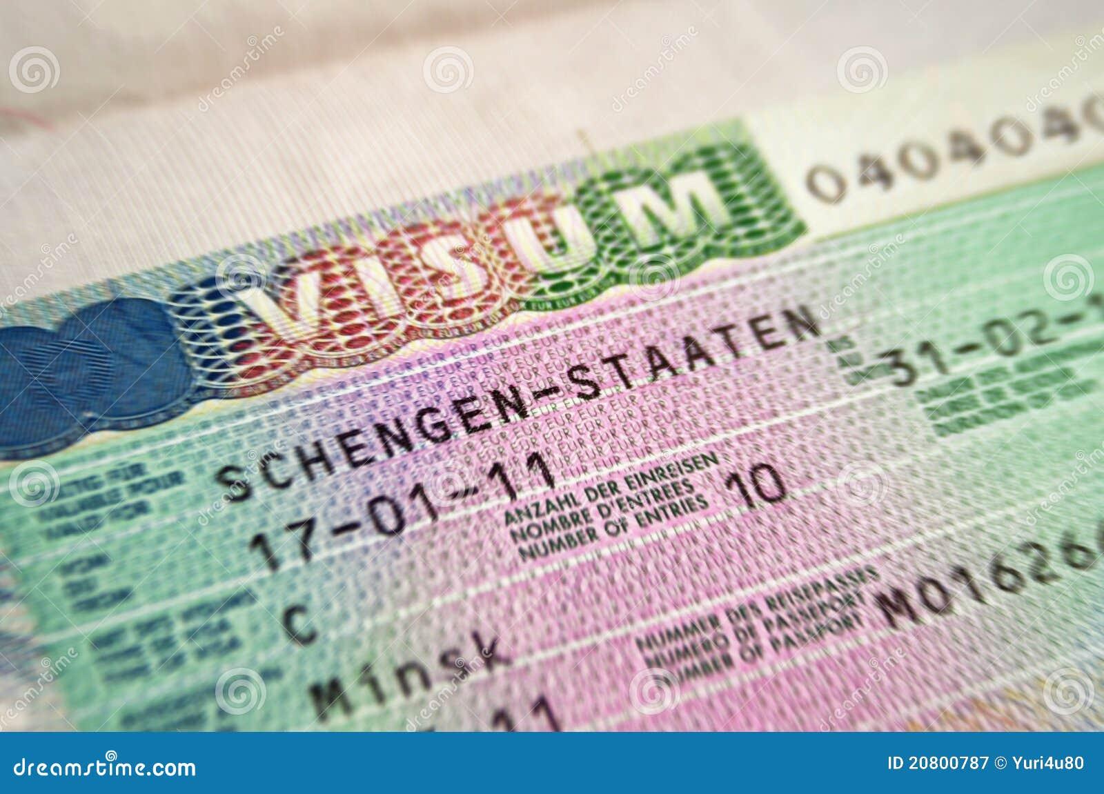 Schengen Visum Lizenzfreie Stockfotografie