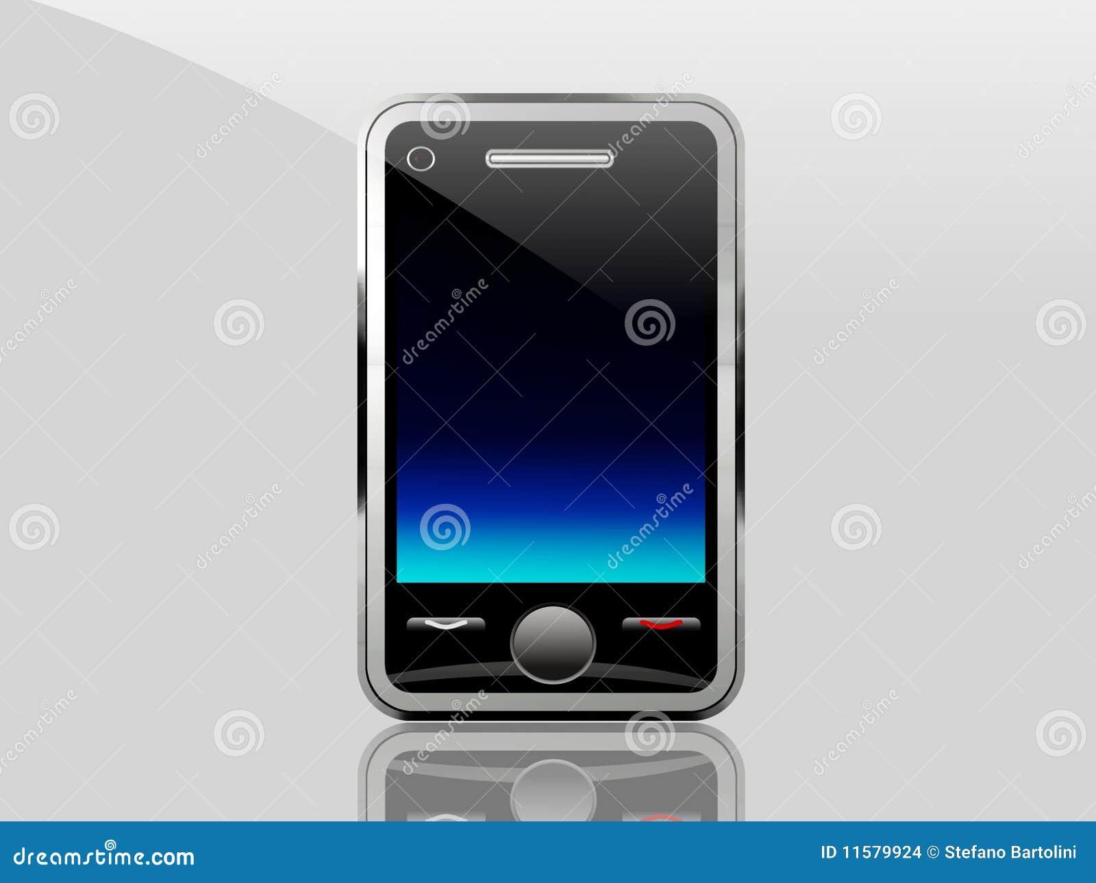 Schermo blu del telefono mobile illustrazione di stock for Mobile telefono