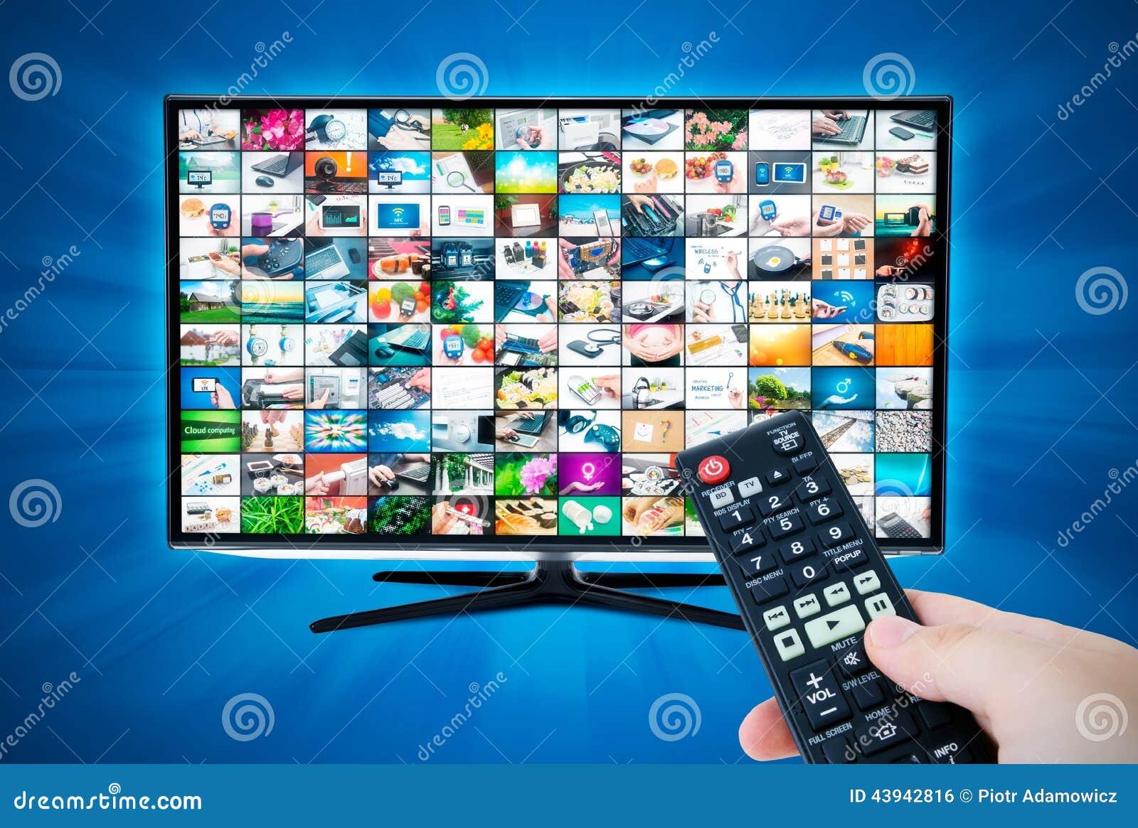 Schermo a grande schermo di alta definizione TV con la video galleria remote