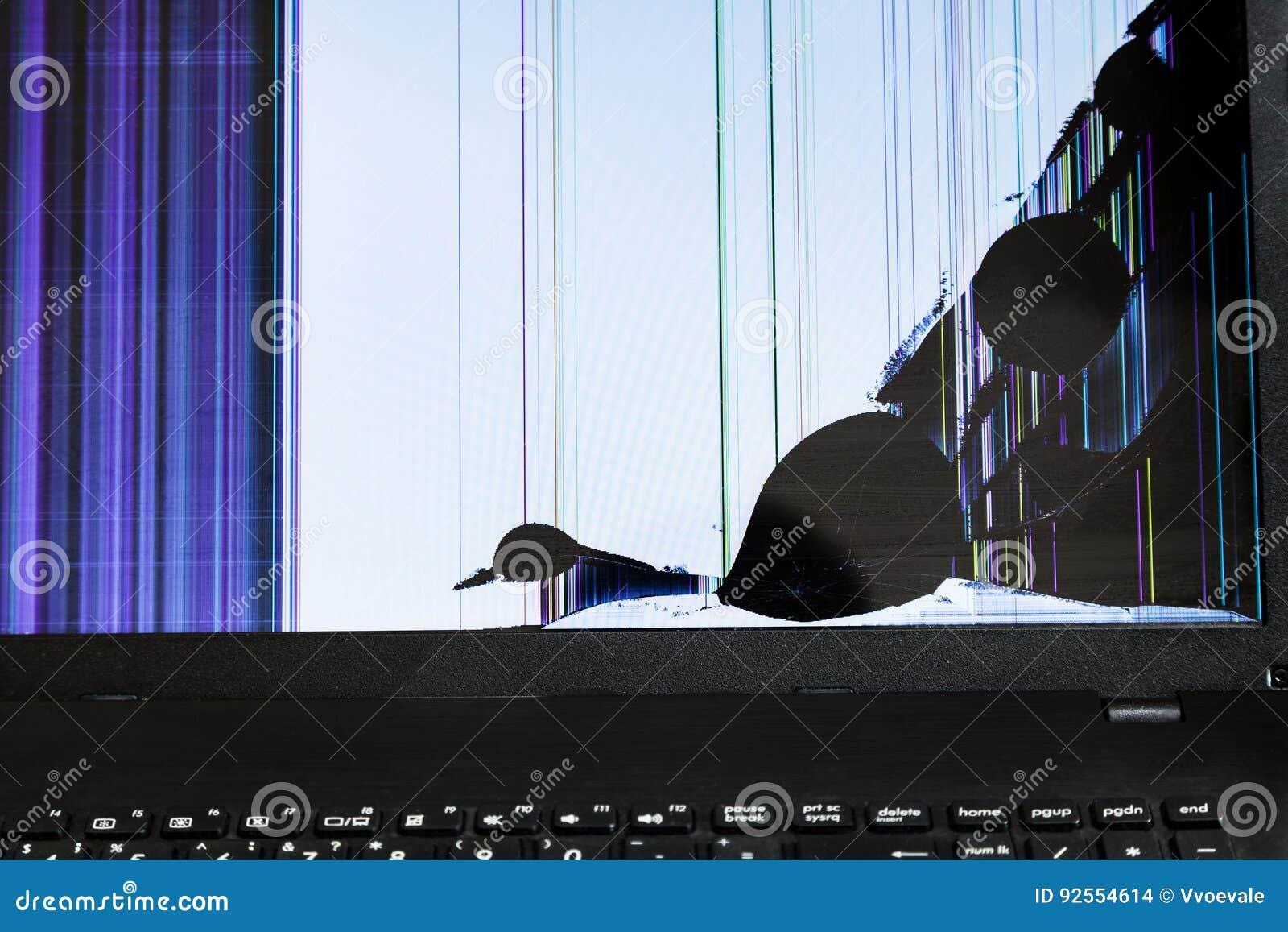 Schermo LCD rotto del computer portatile
