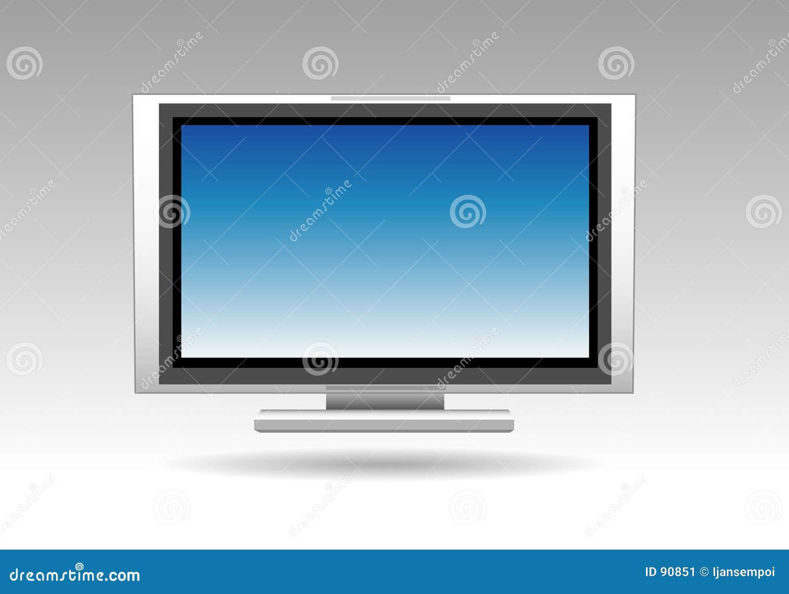 Schermo piano della televisione
