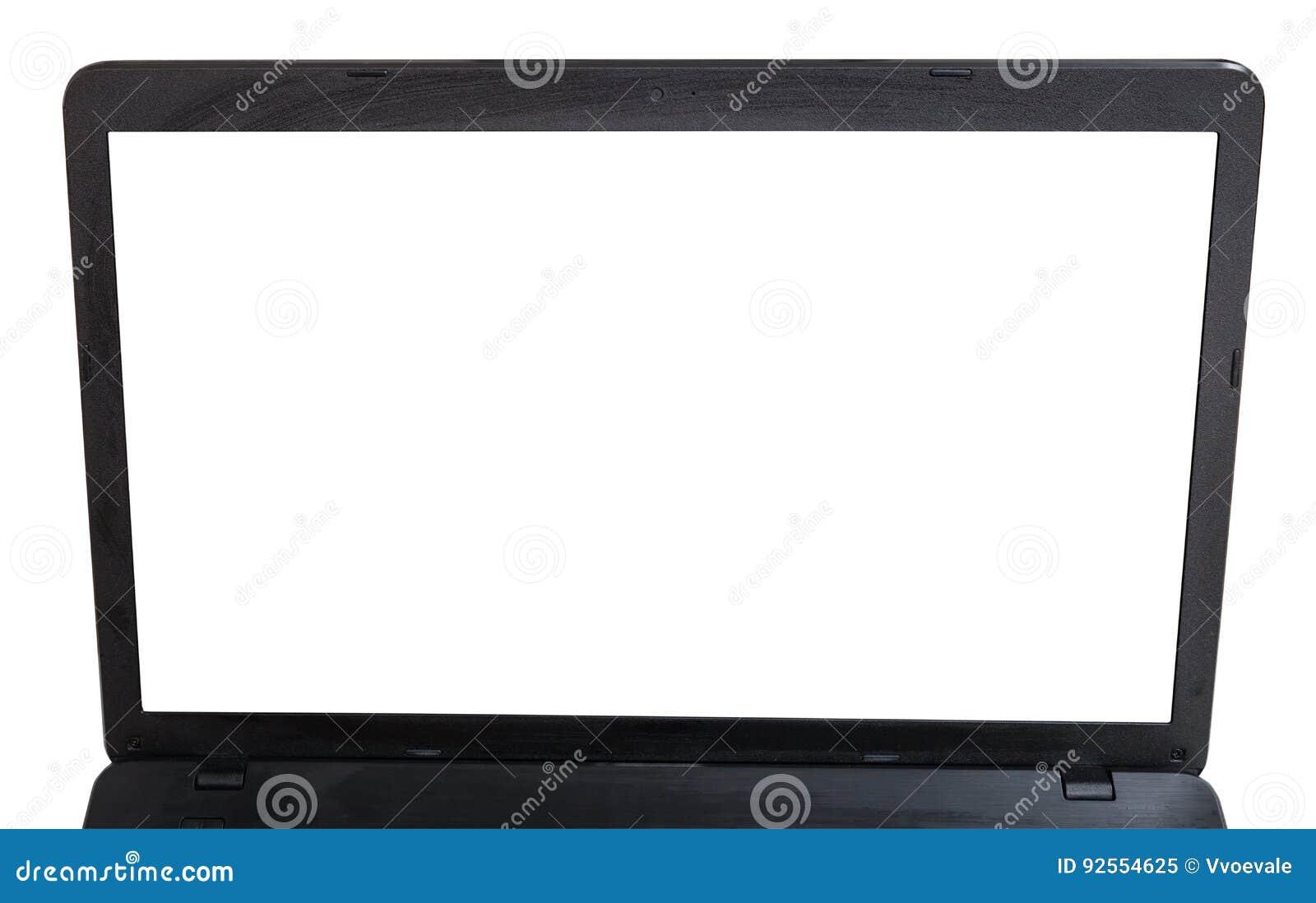 Schermo tagliato del computer portatile isolato