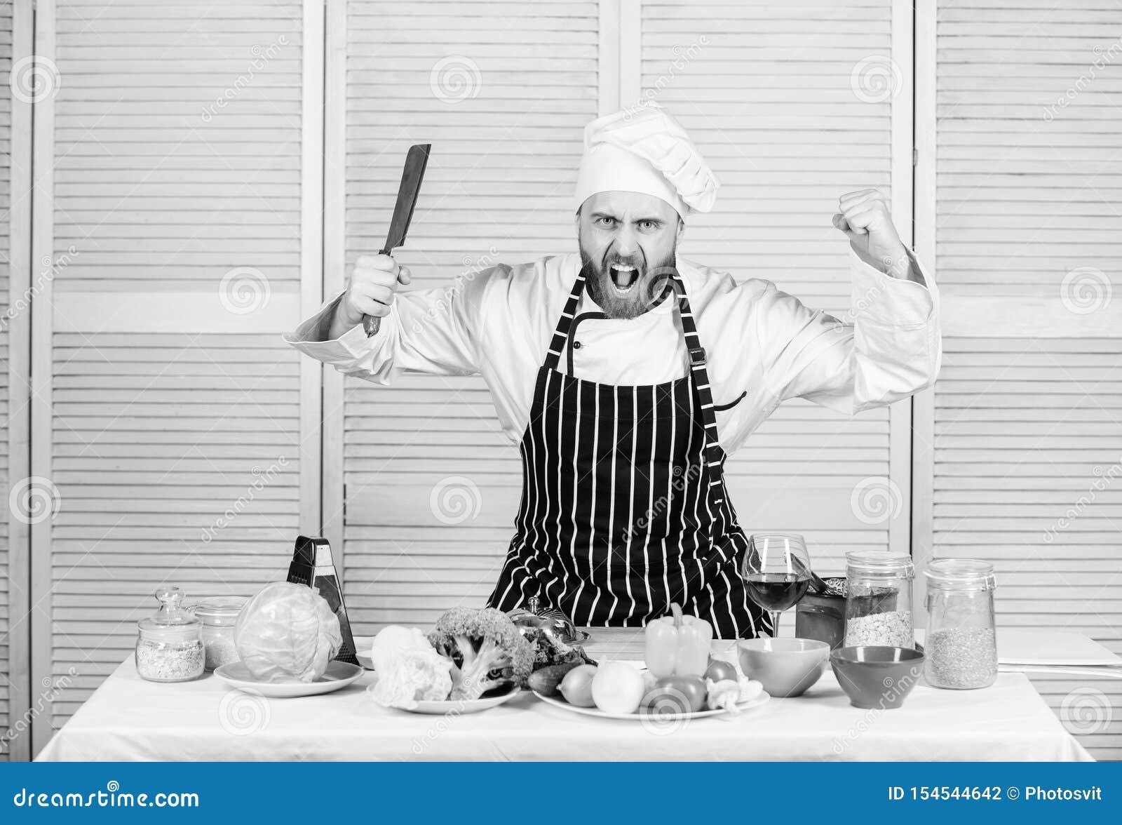 Scherp messen professioneel hulpmiddel De chef-kok kiest professionele hulpmiddelen Het hulpmiddel van het het mesmes van de chef