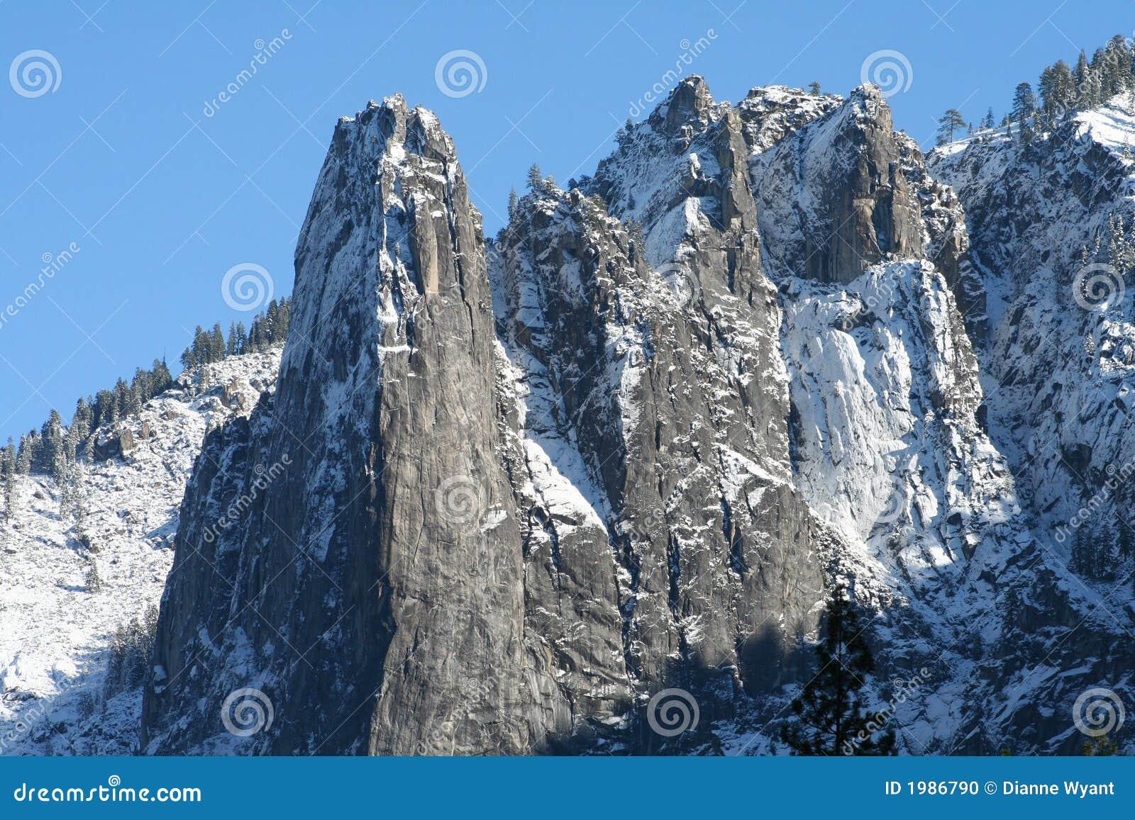 Scherpe bergpieken