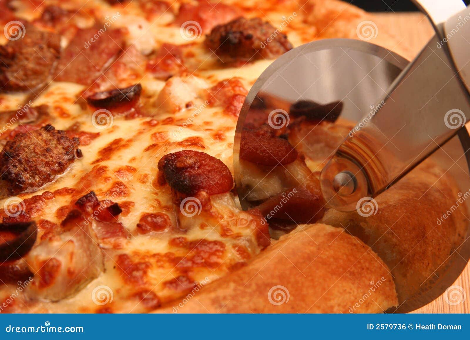Scherpe pizza