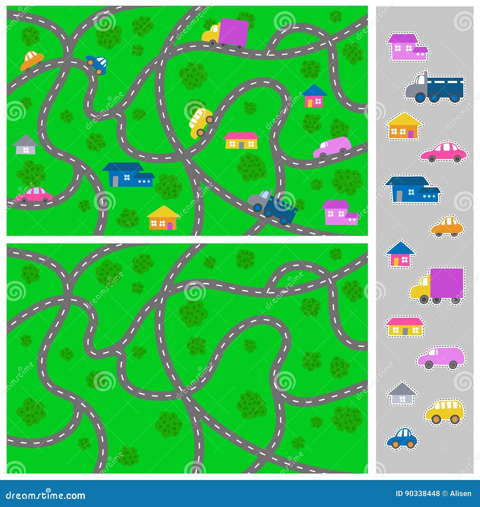 Scherzi la mappa della citt vector il modello della for Creatore della mappa della casa