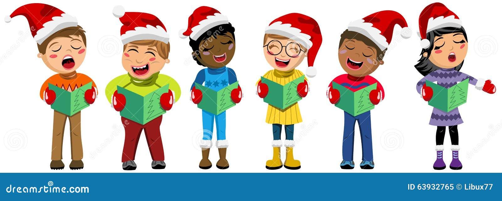 Scherzt Weihnachtsgesang Weihnachtslied Vektor Abbildung ...