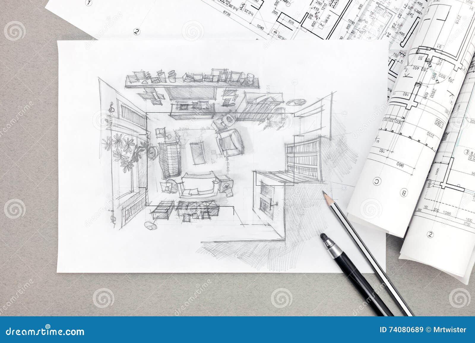 https://thumbs.dreamstime.com/z/schets-uit-de-vrije-hand-architecturale-tekening-van-woonkamer-met-potlood-74080689.jpg