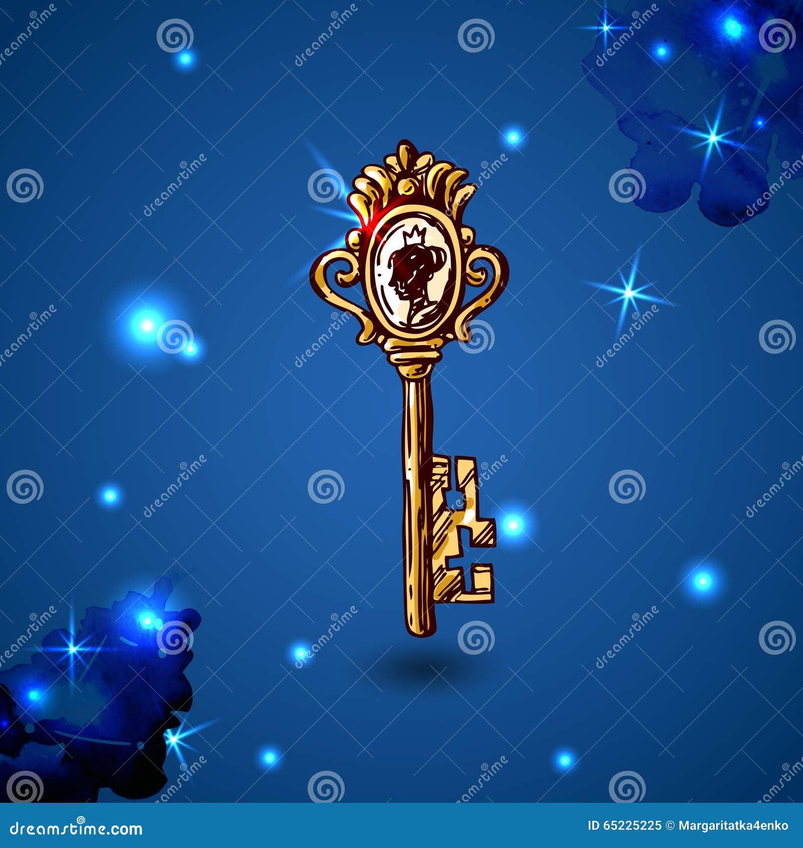 Schets uitstekende sleutel
