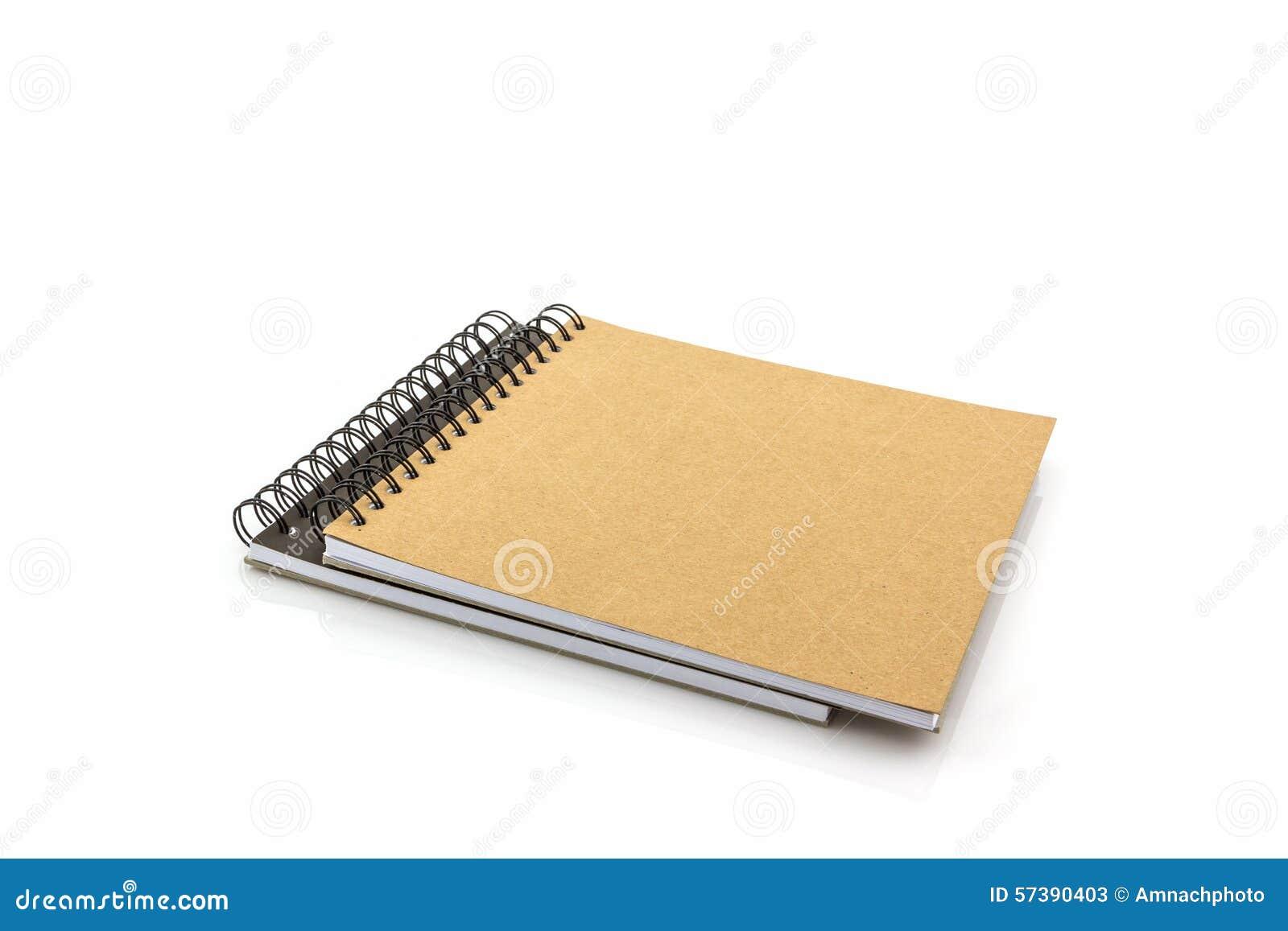 Schetsboek op witte achtergrond