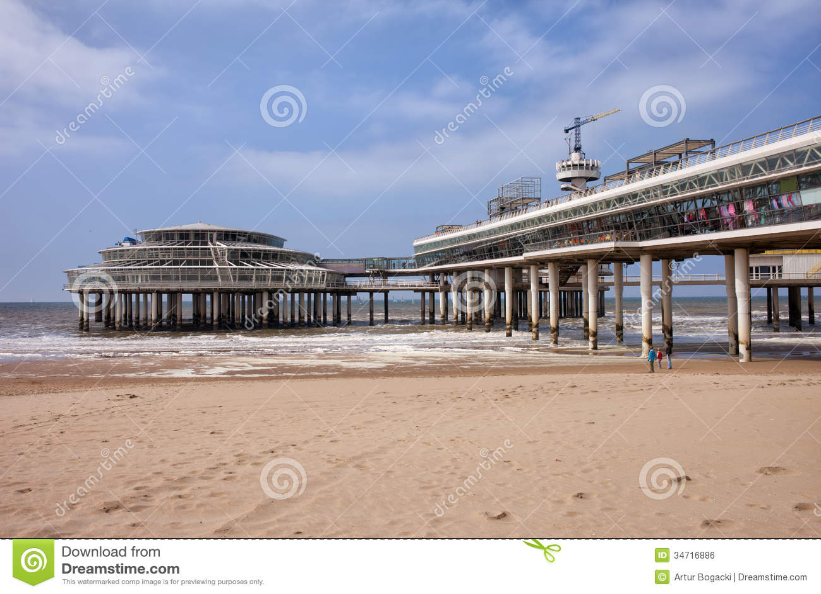 Scheveningen Beach And Pier In Hague Stock Photo Image