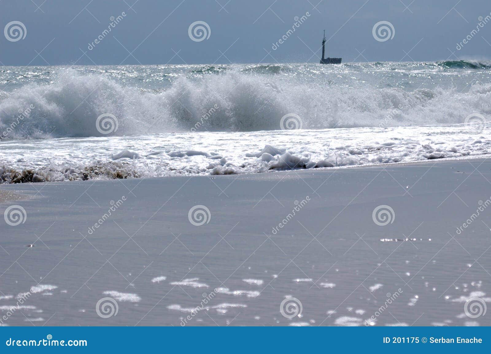 Schiacciamento delle onde