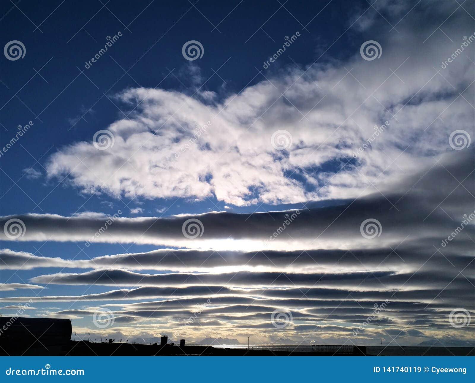 Schicht Wolken